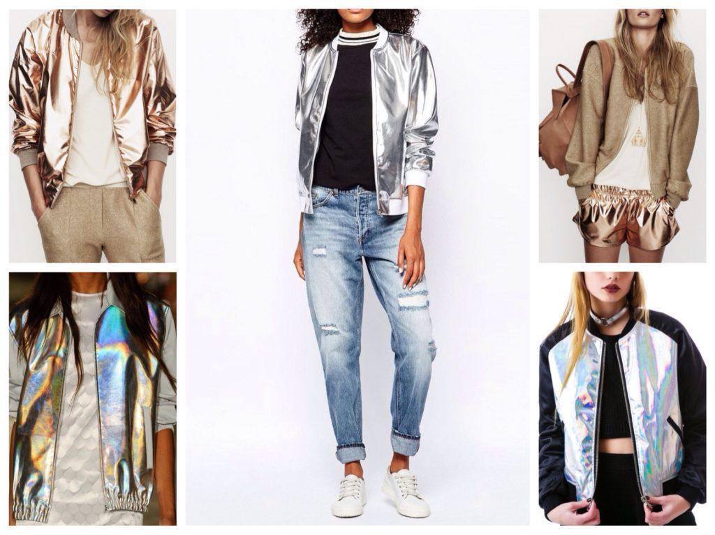 оттенки металлик в куртках