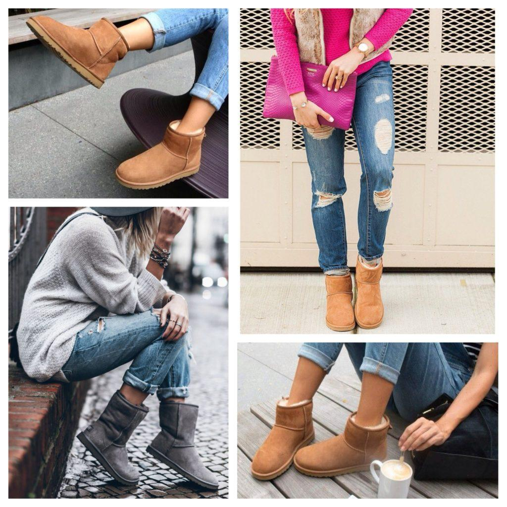 джинсы с уггами
