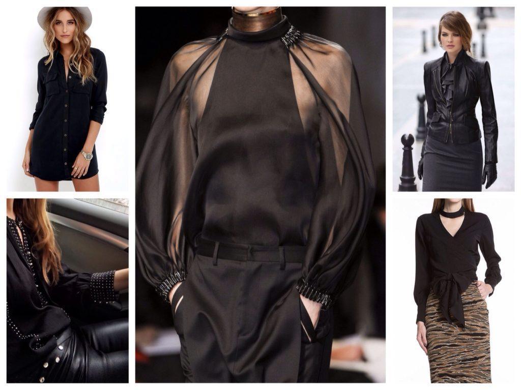 Разнообразие черных моделей блуз