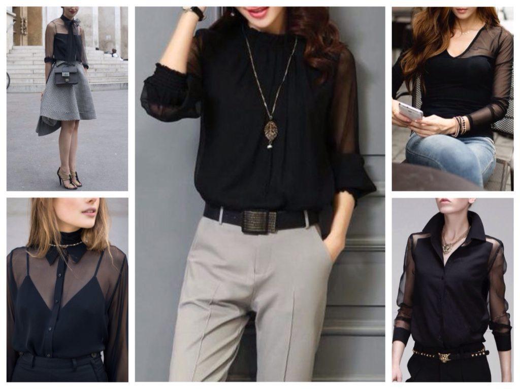 прозрачные модели блуз