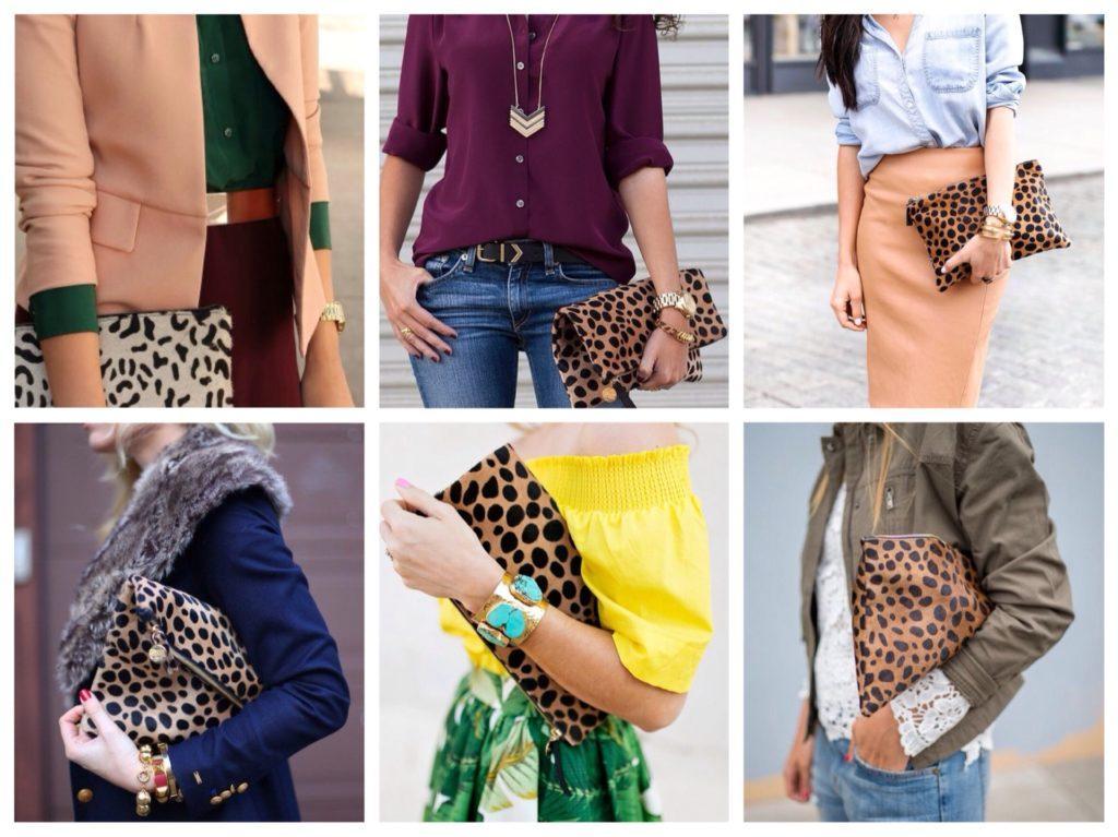 леопардовые клатчи конверты