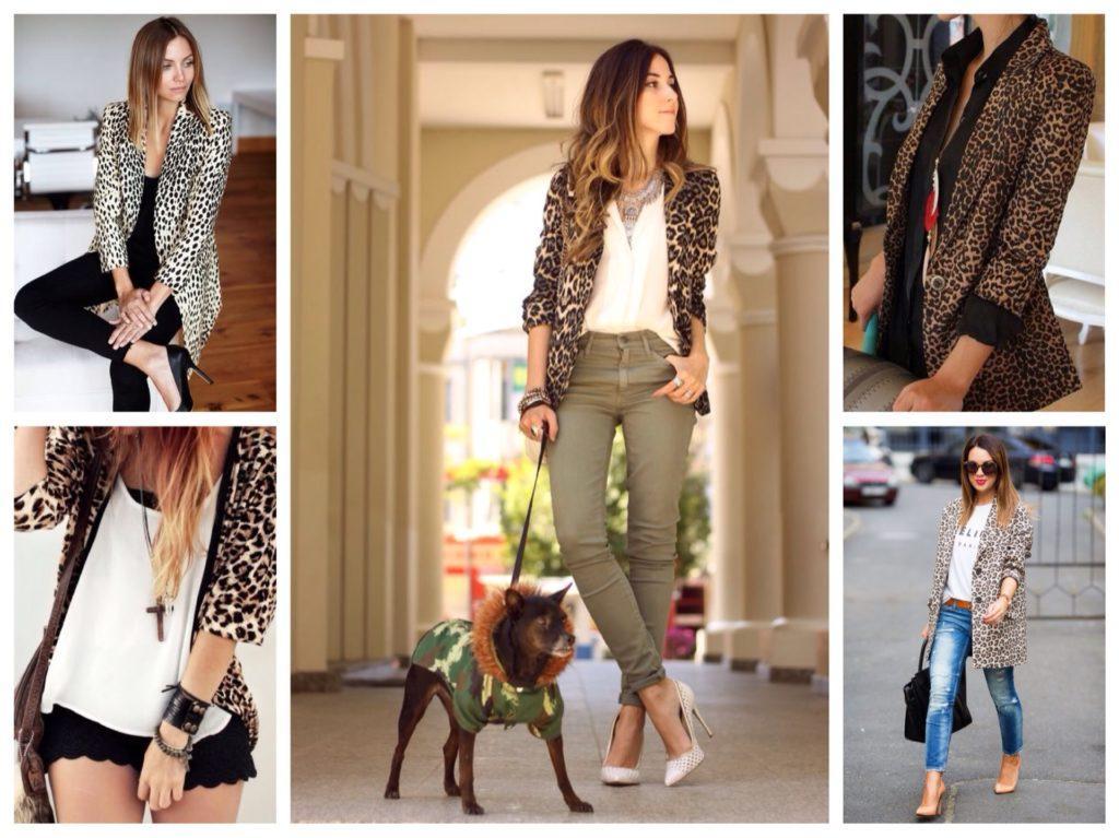 леопардовый пиджак в комплекте