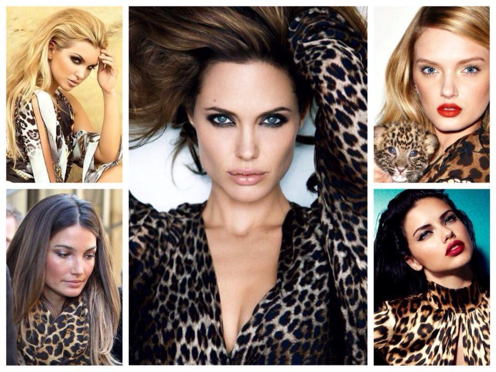 макияж под леопардовый принт