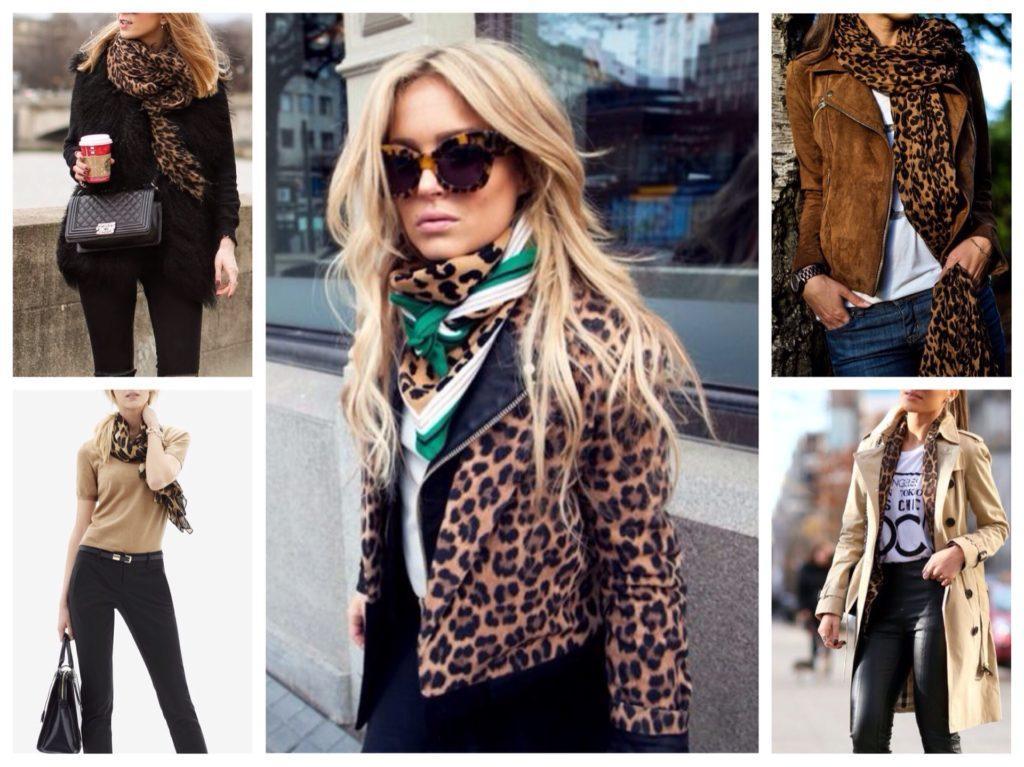 шарфы и платки под леопард