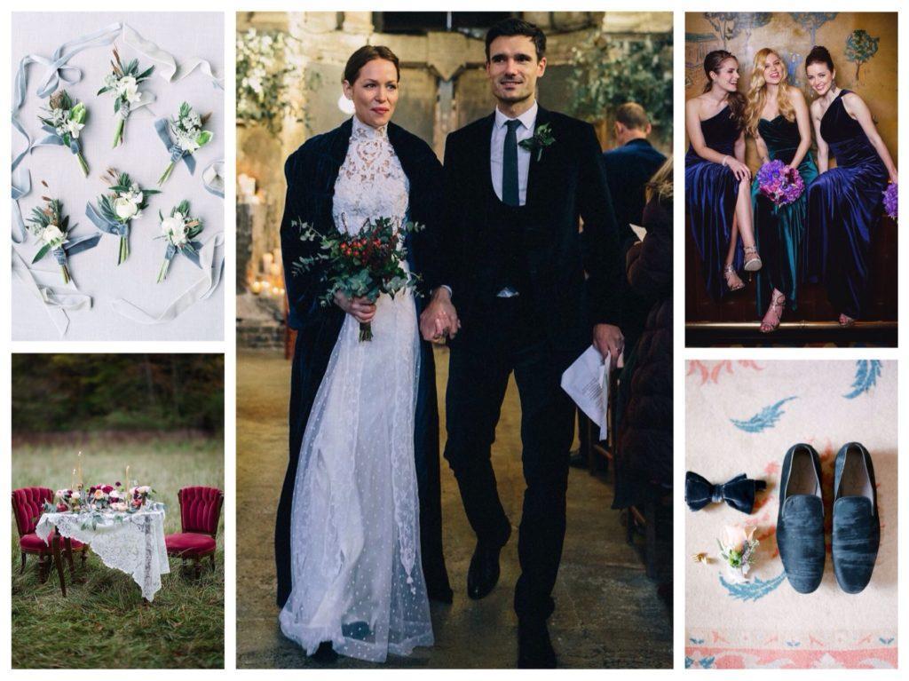 бархатные свадебные элементы