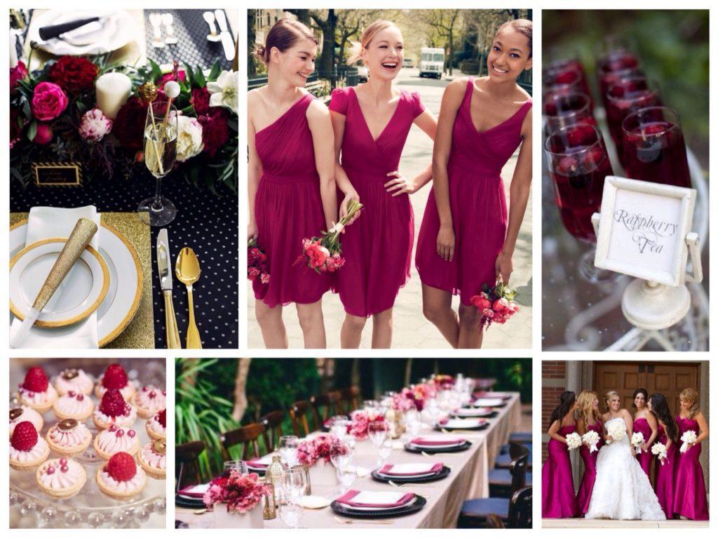 свадьба в малиновом цвете