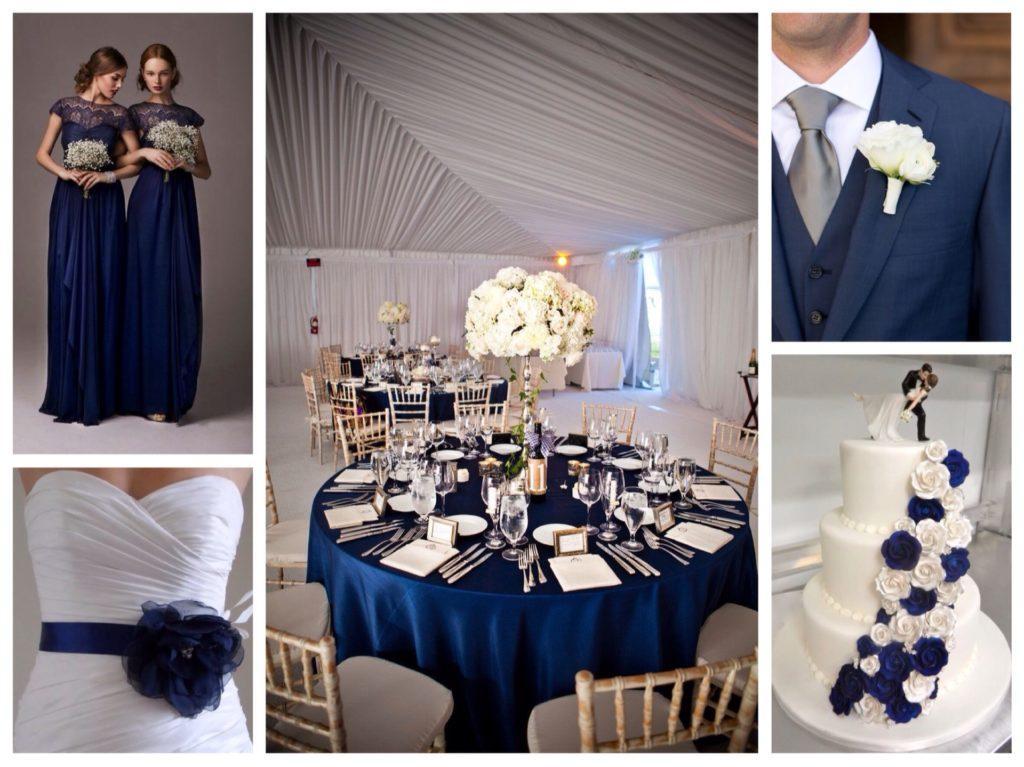 темно синий в свадебном сценарии