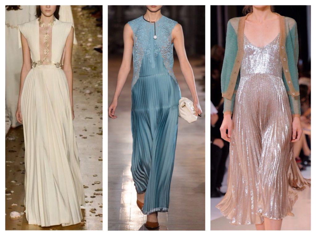 платья от кутюр с плиссе