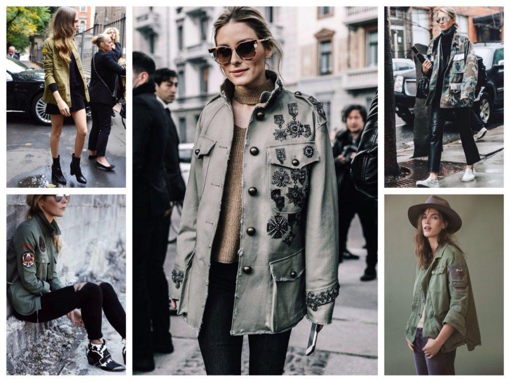 куртки милитари в городских аутфитах