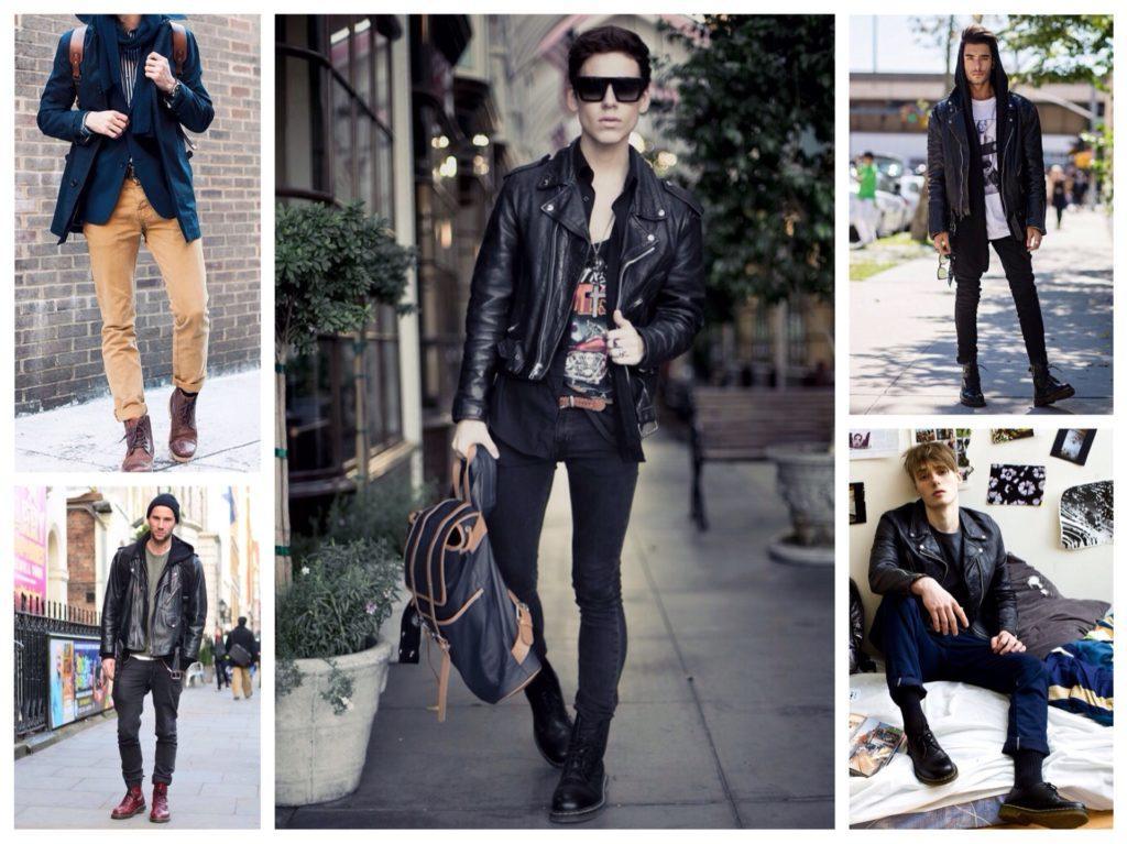 мужские образы с грубыми ботинками