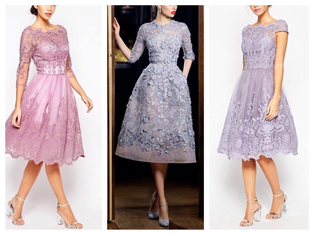 сиреневые платья