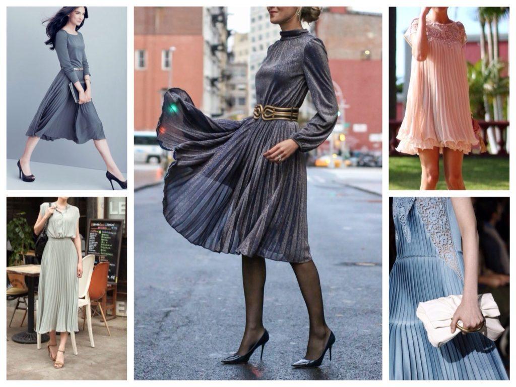 платья с плиссировкой