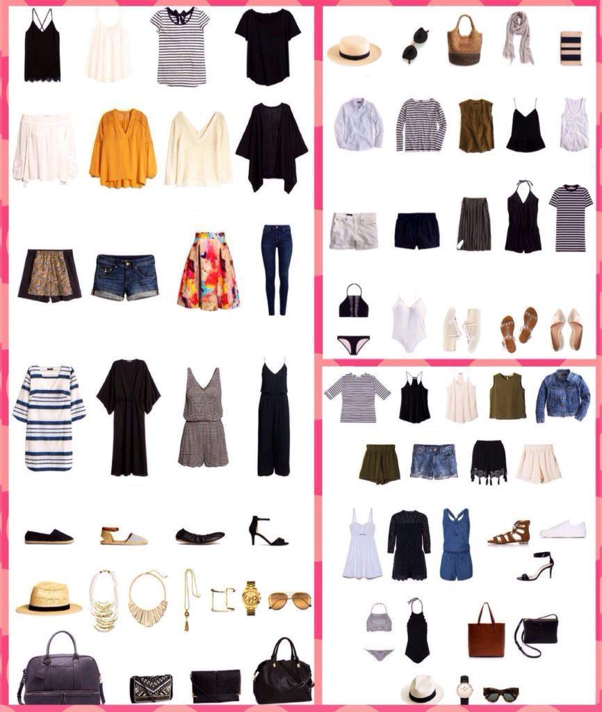 капсулы одежды для летнего отдыха