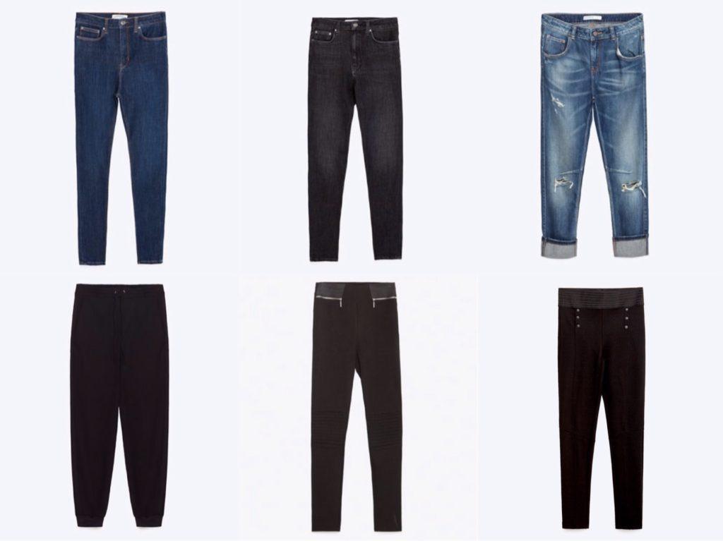 Базовые джинсы леггинсы и джоггеры