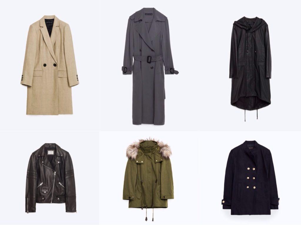 Варианты базовой верхней одежды на весну и осень