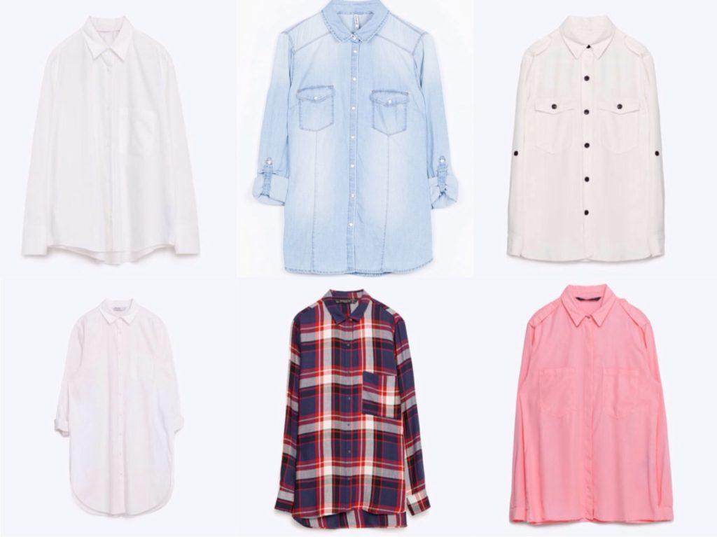 Варианты базовых рубашек в различных стилях