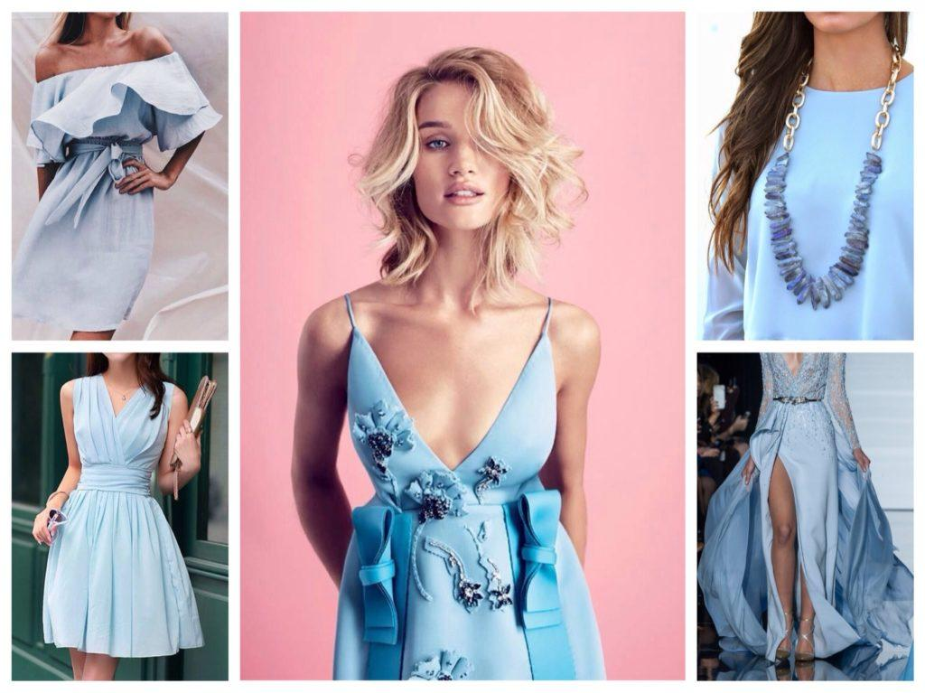 голубое платье в гардеробе