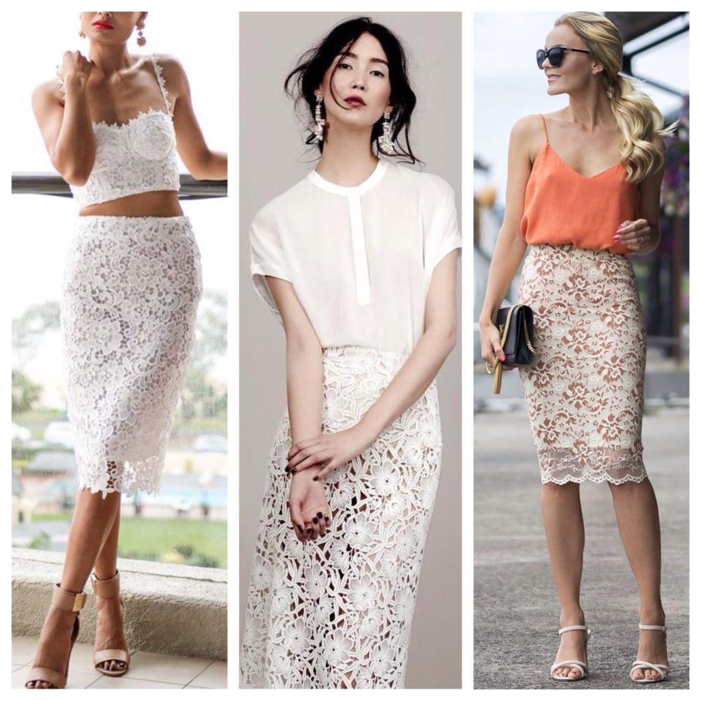 кружевная юбка с топом
