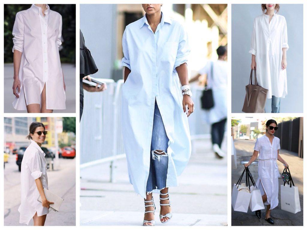 белые платья рубашки