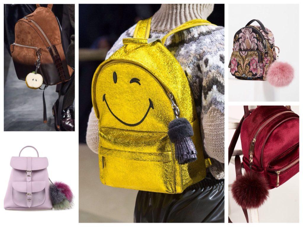 брелки на рюкзаках