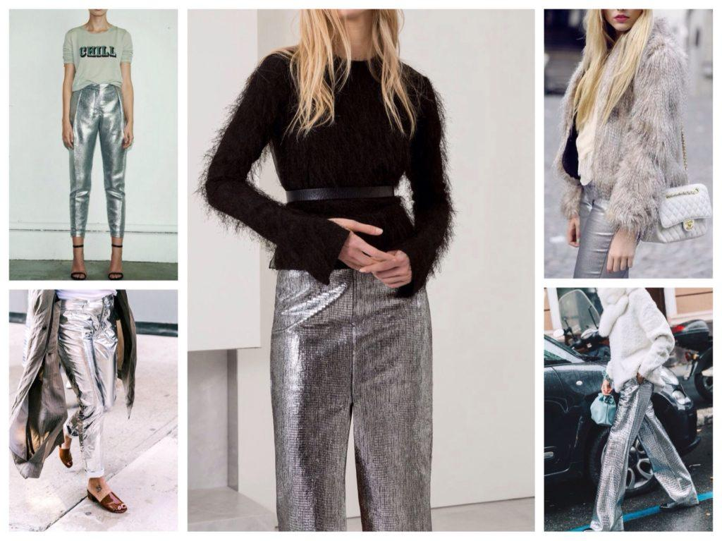 брюки металлик