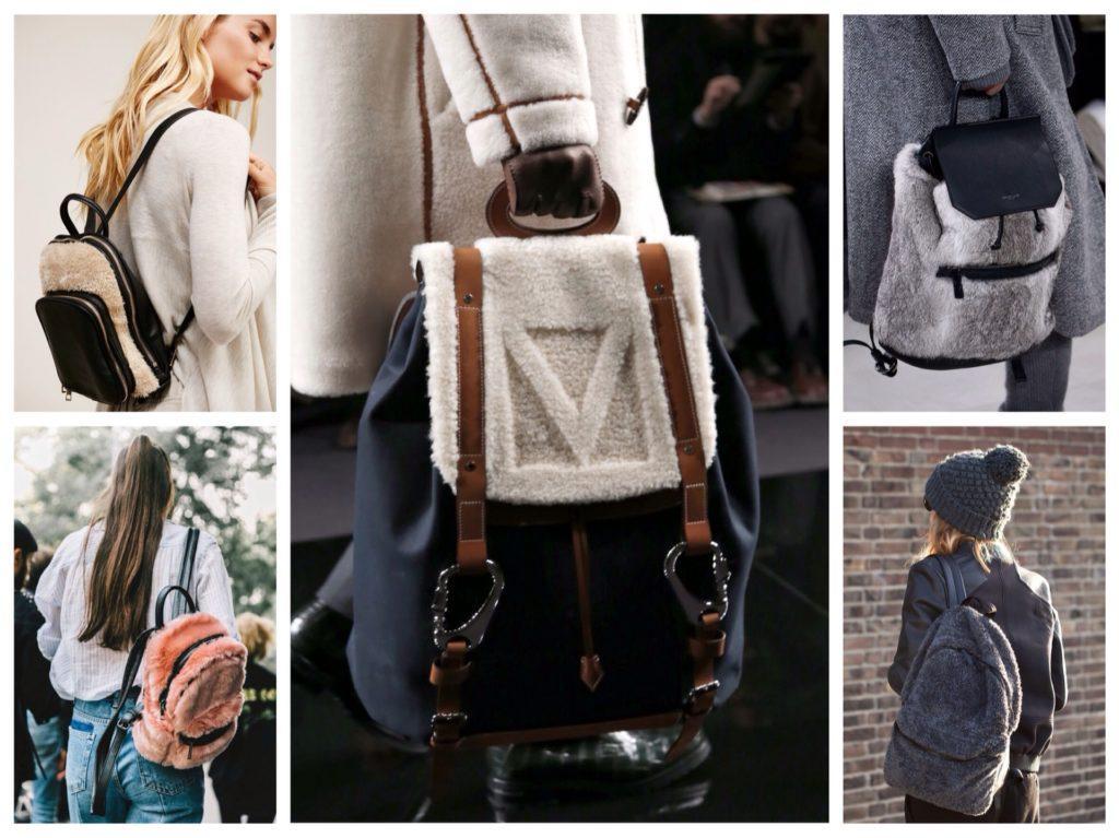 меховая отделка в рюкзаках