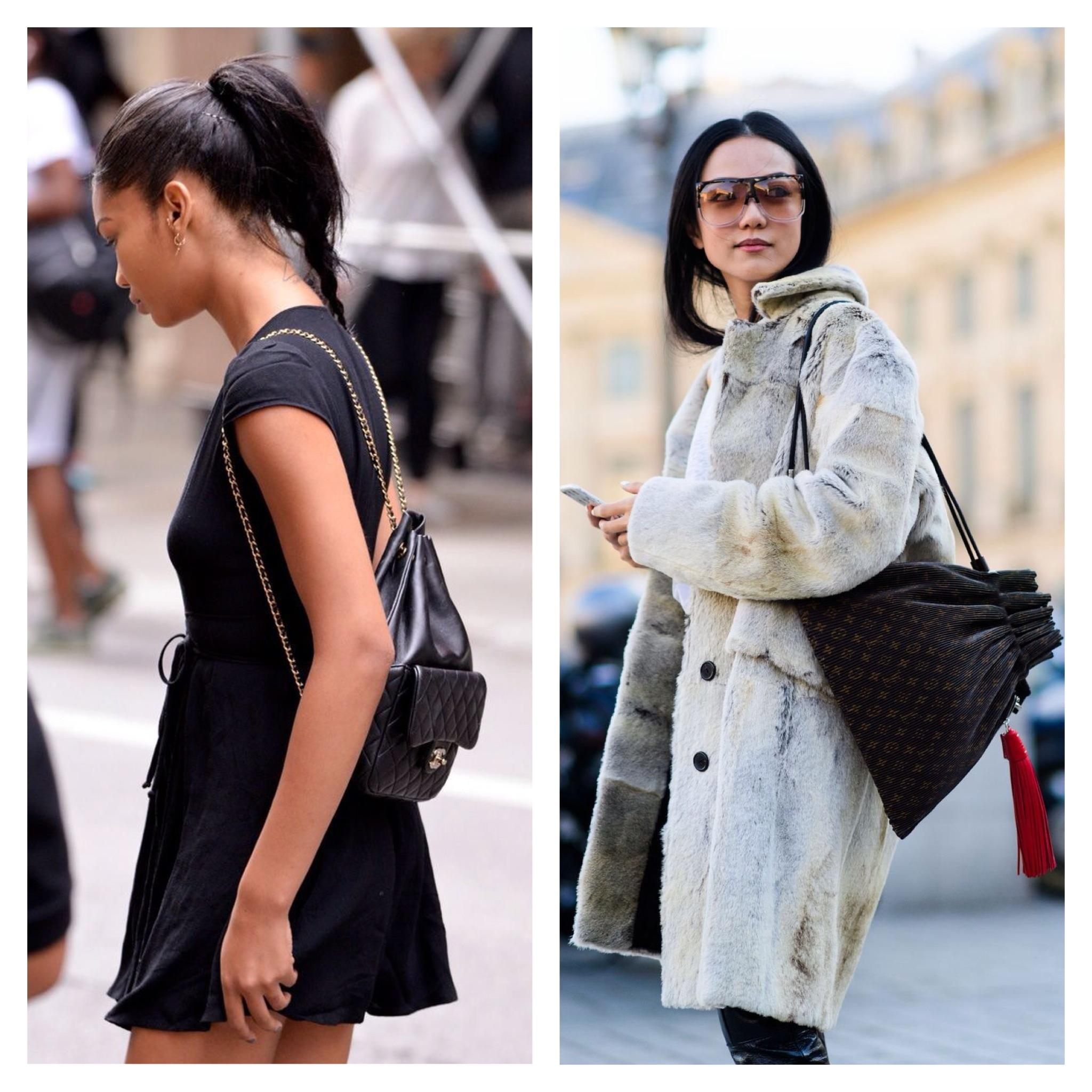 С чем носить рюкзак женский зимой фото