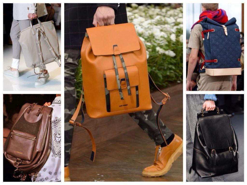 мужские рюкзаки с модных показов