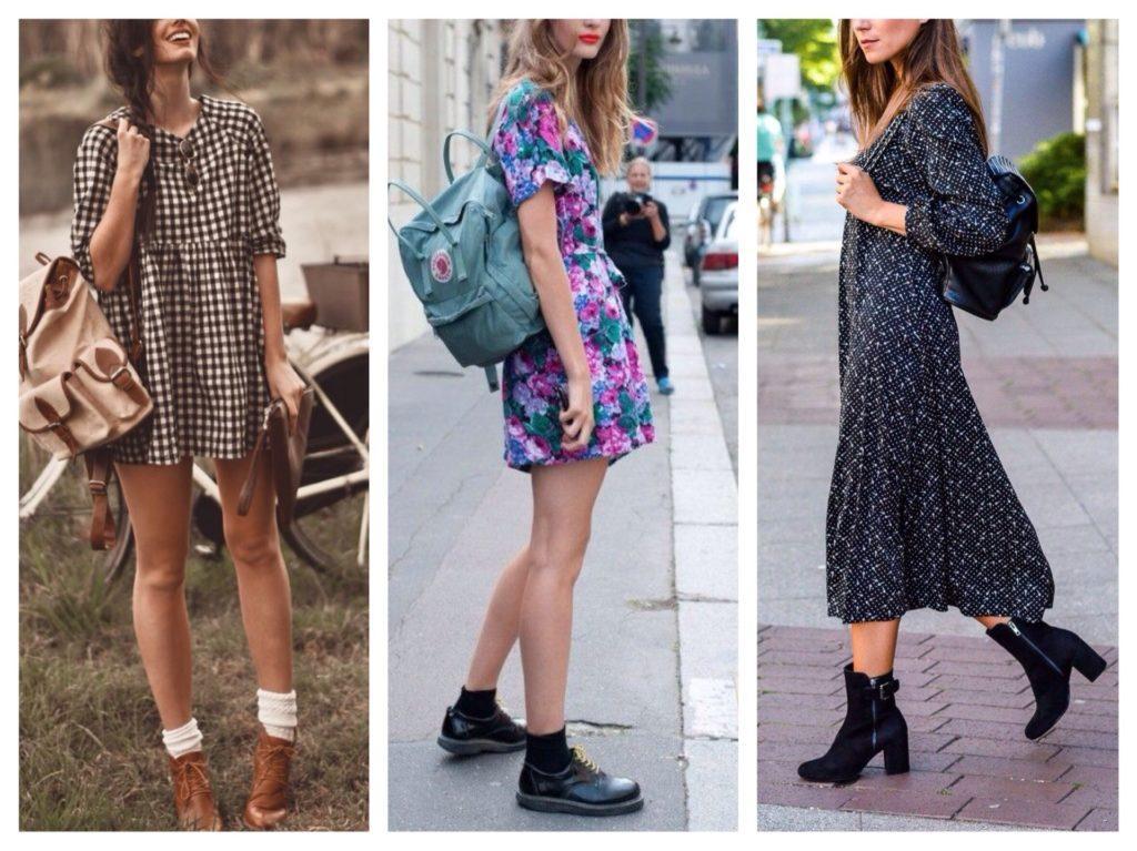 рюкзак с платьем