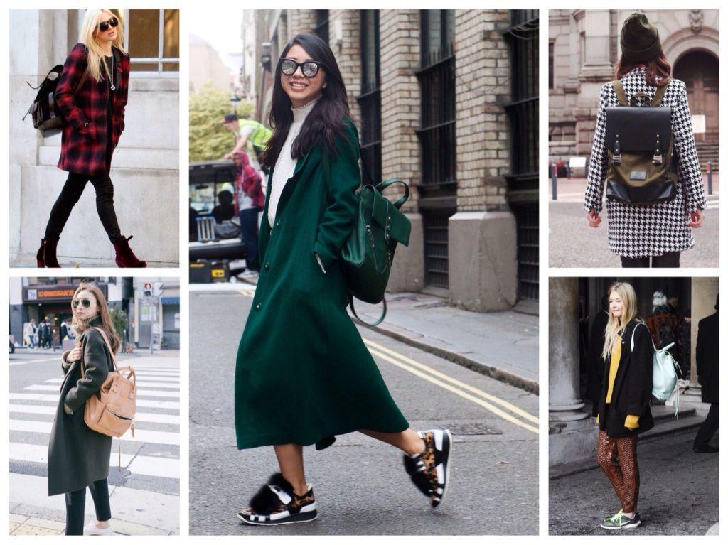 рюкзаки с различными пальто