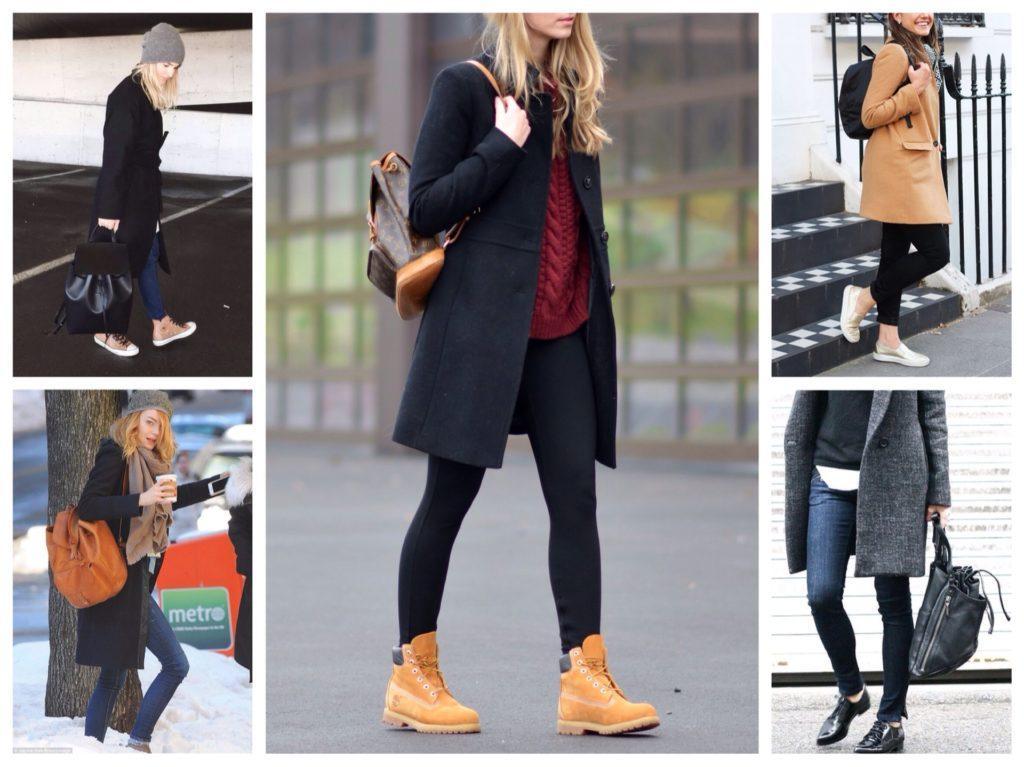 рюкзаки с пальто