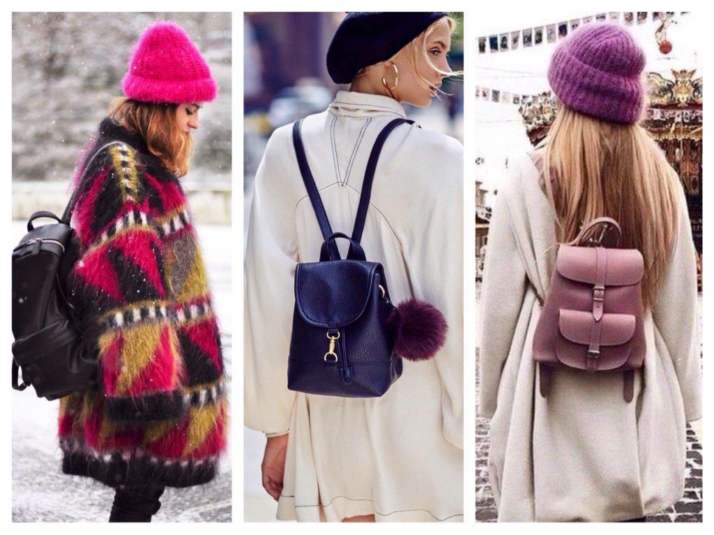 рюкзаки с теплыми кардиганами