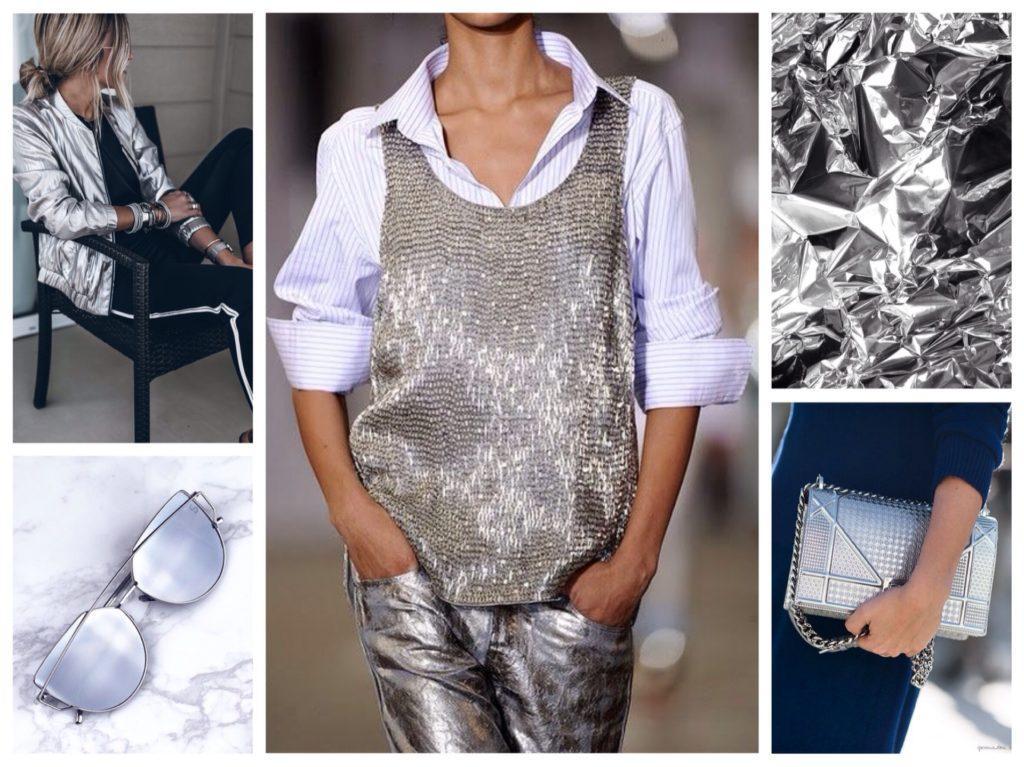 серебристый металлик в одежде