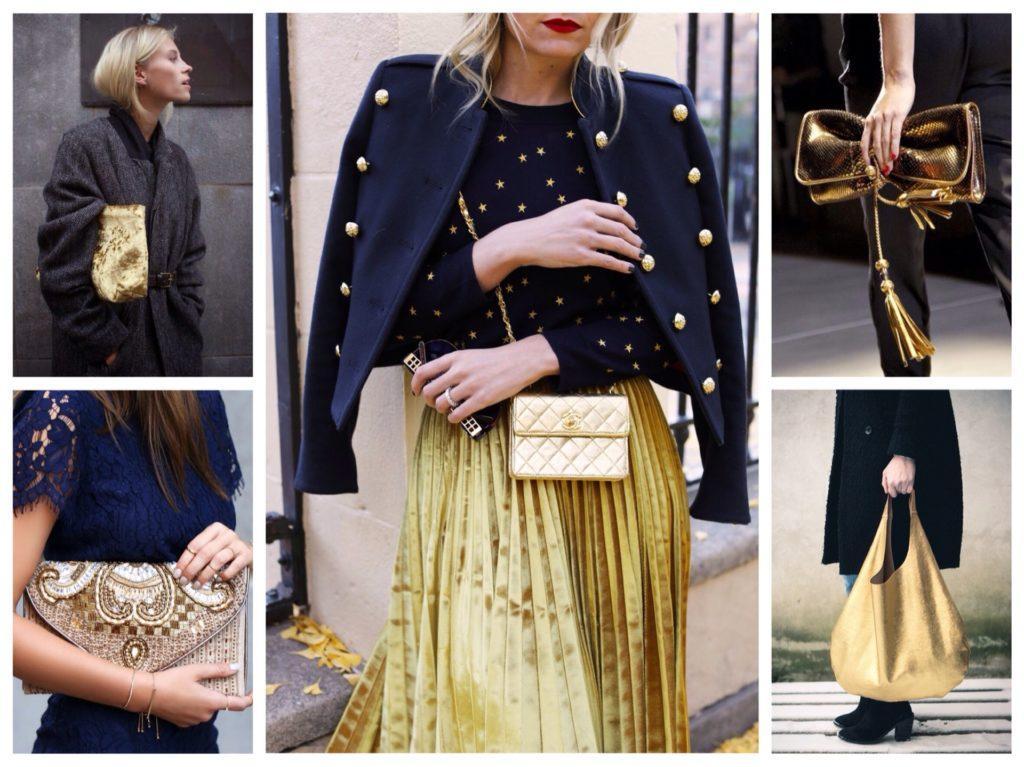 золотистые сумки