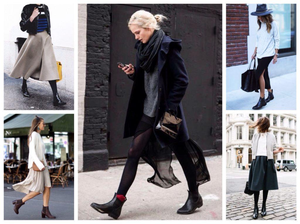 ботинки челси в образах street styl
