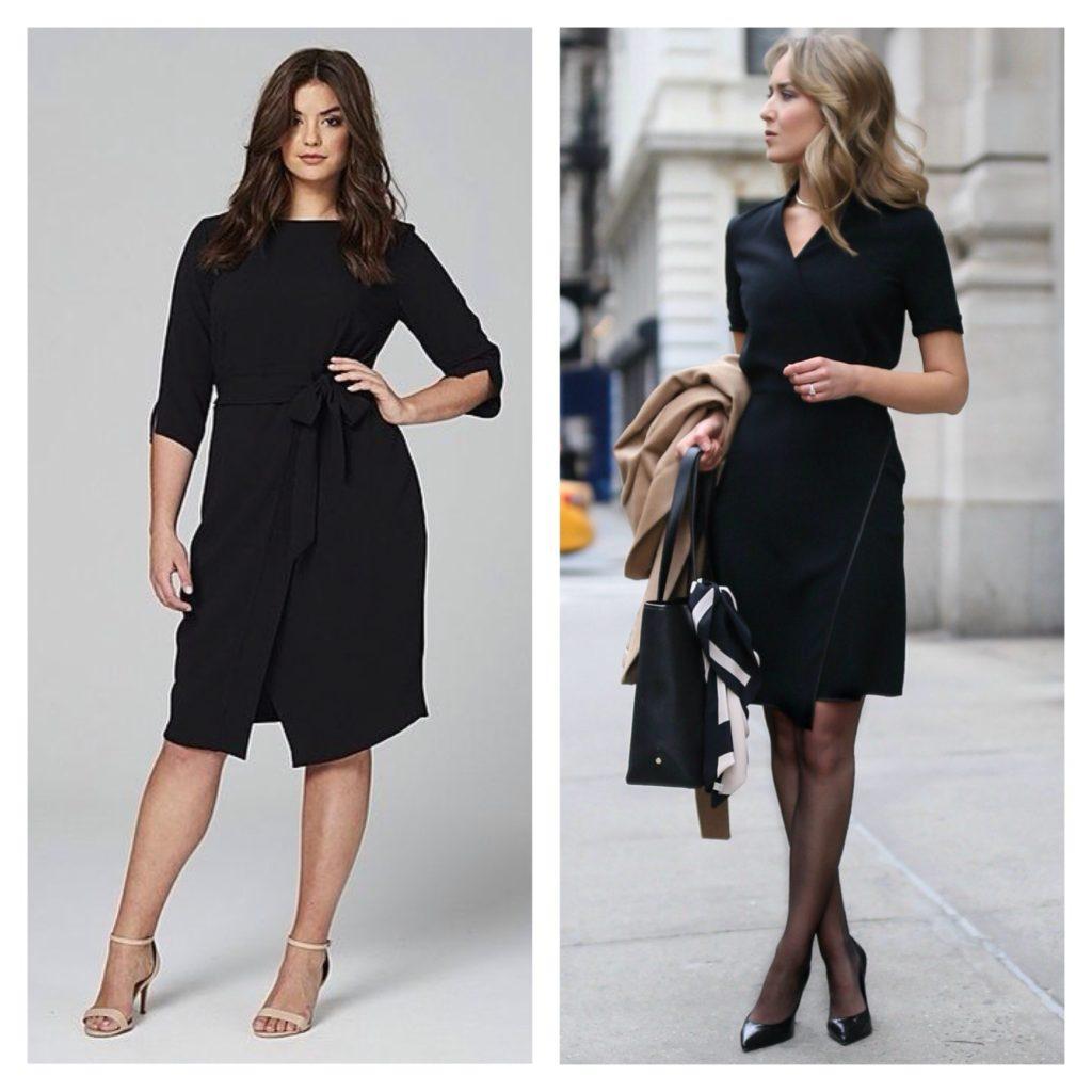 деловые модели платья на запах