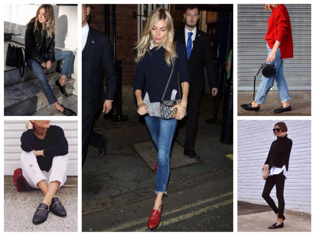 джинсы и лоферы
