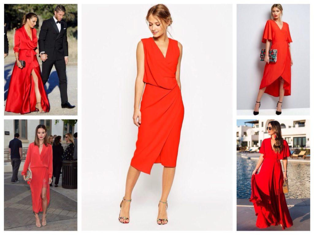 красные платья на запах