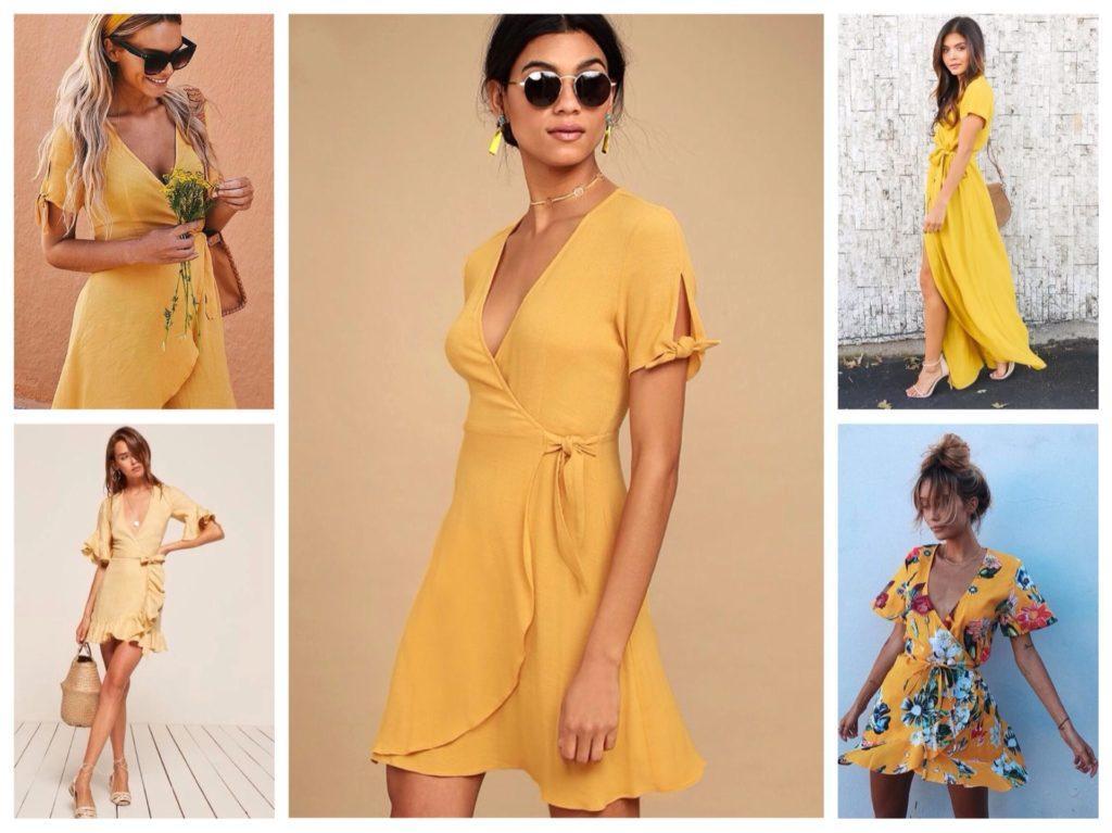 модели в желтом цвете
