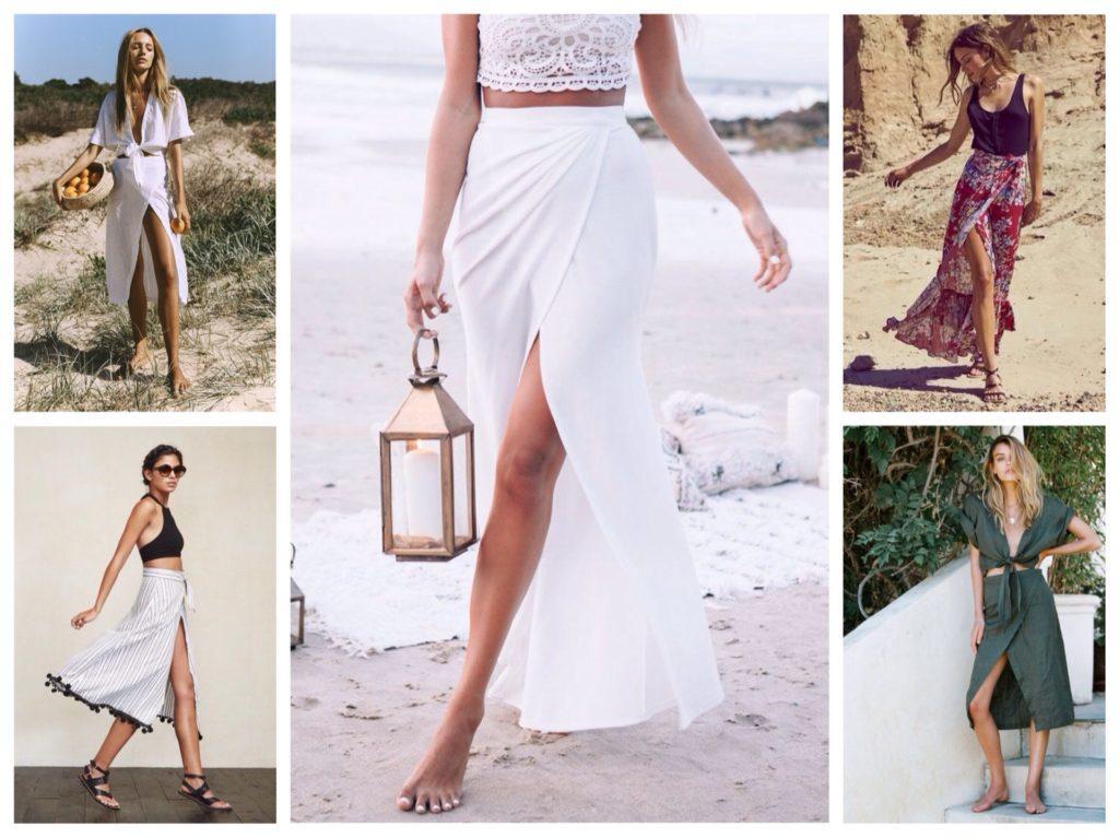юбки с запахом для пляжа