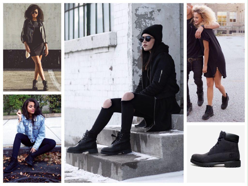 Черные модели ботинок тимберлендов