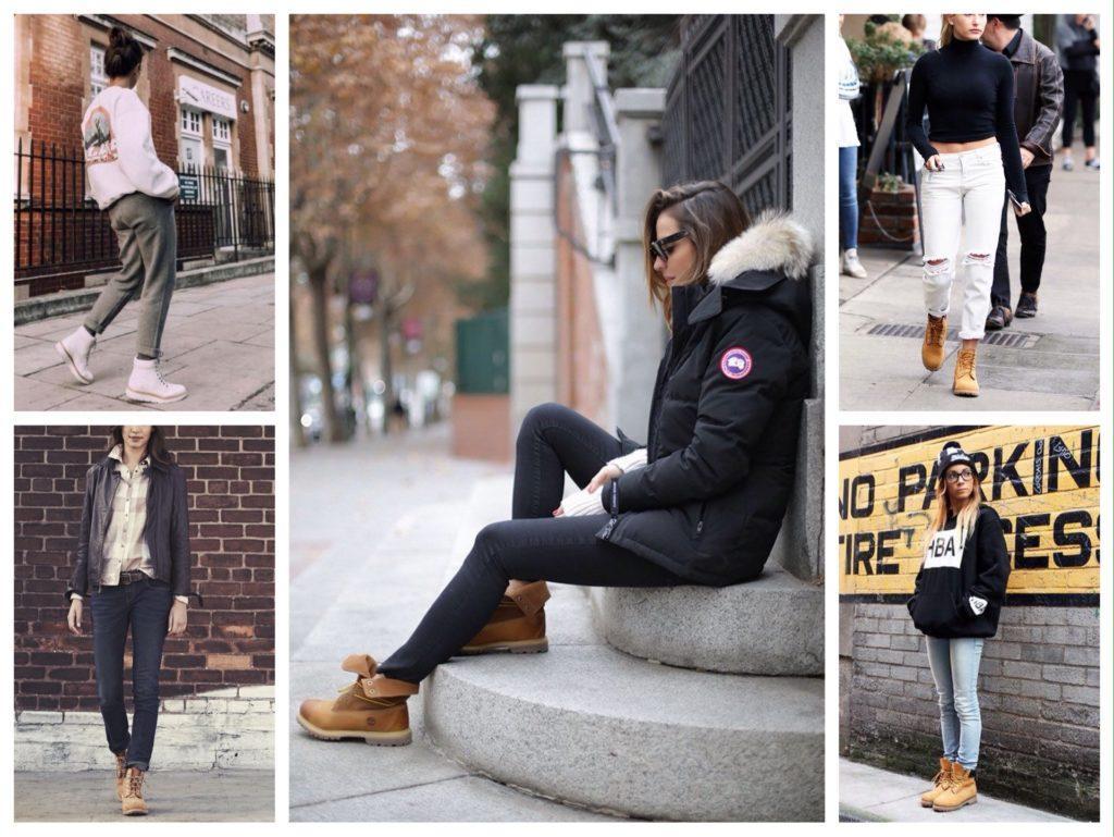 Тимберленды в модных комплектах