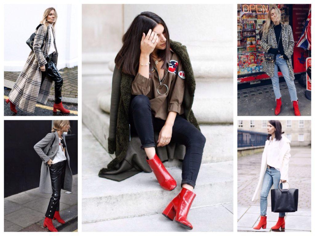 образы с красными ботинками