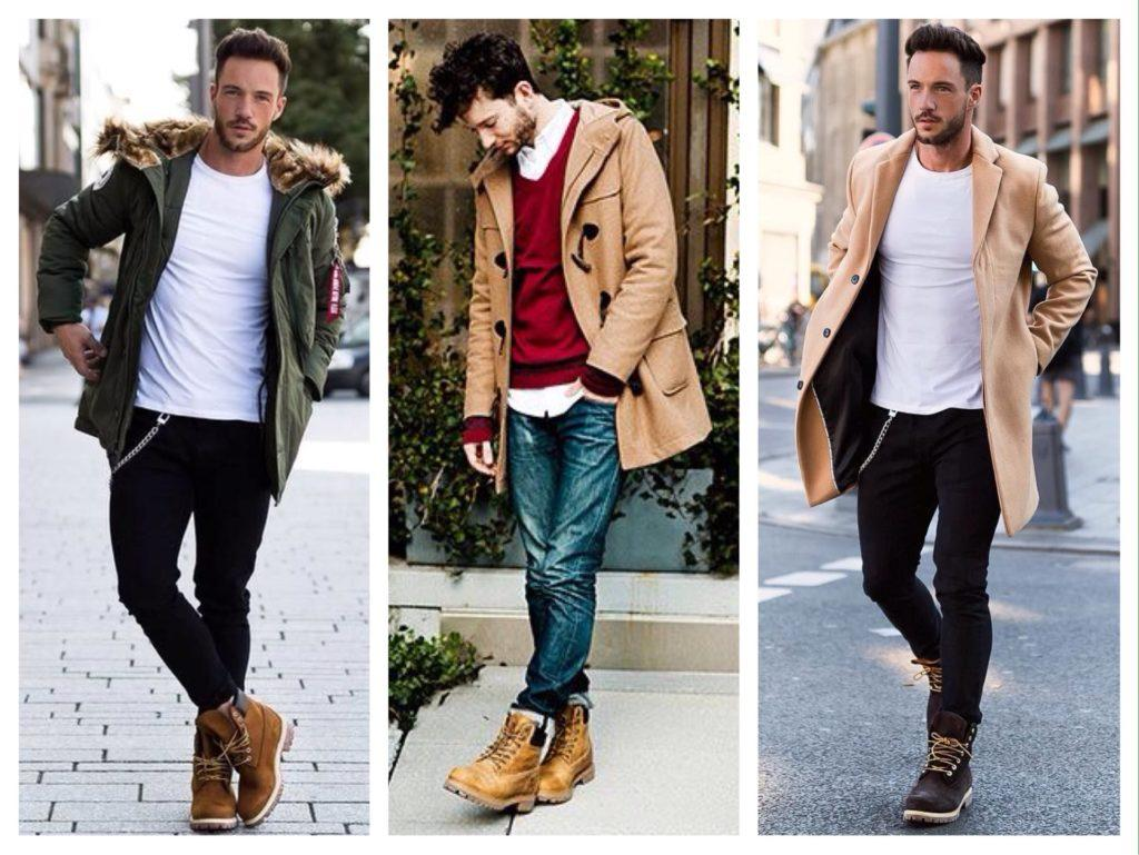 образы с мужским пальто