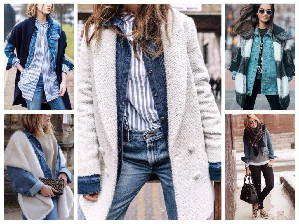 джинсовая куртка под пальто