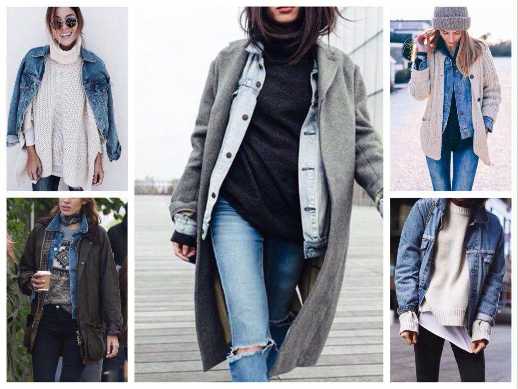джинсовая куртка в многослойных образах
