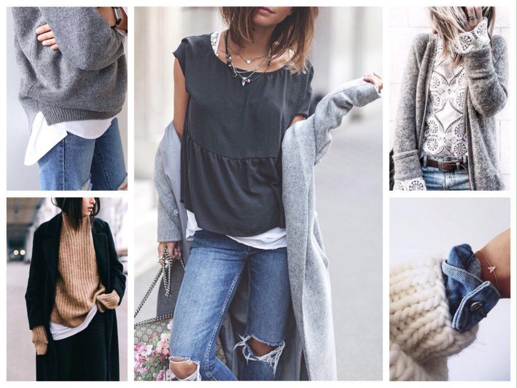 идеи сочетаний в ансамблях одежды
