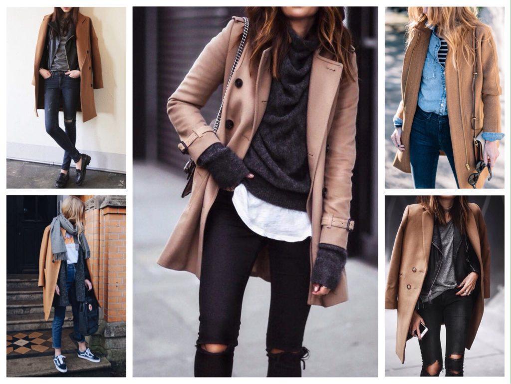 комплекты с бежевым пальто