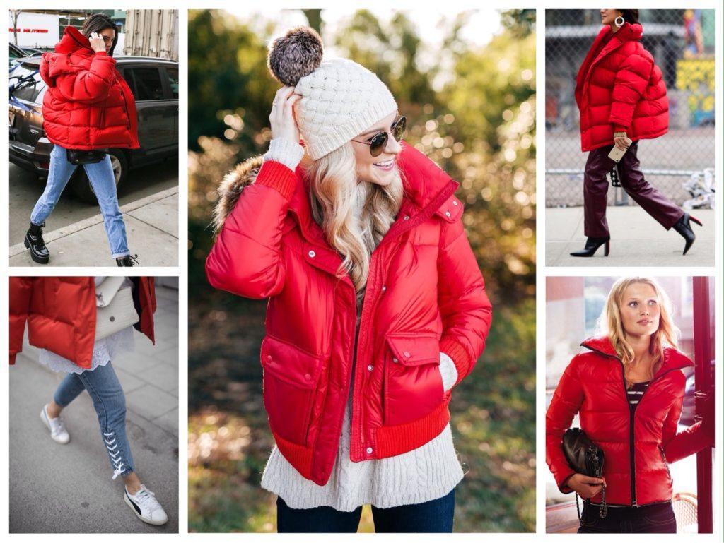 комплекты с красной дутой курткой