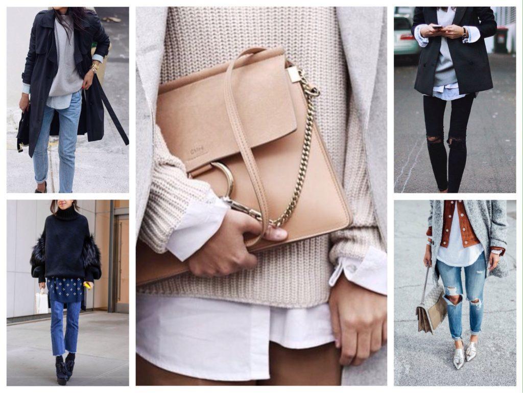 варианты многослойной одежды в образе